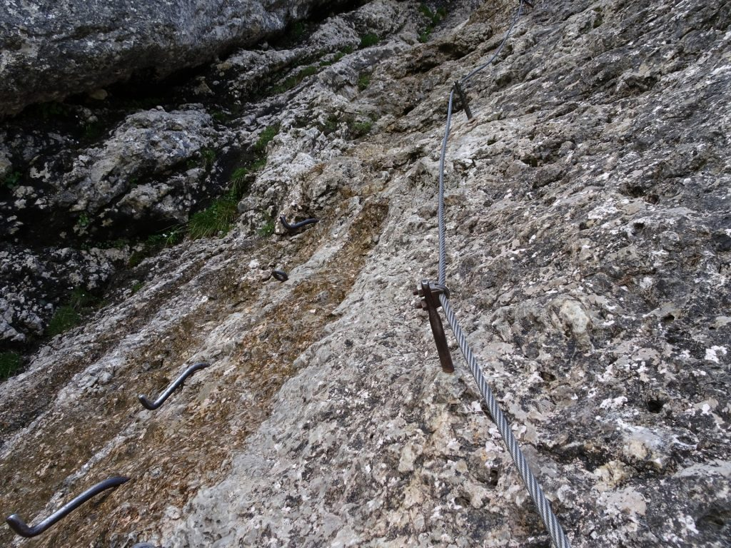 On the first part of the ferrata (B)