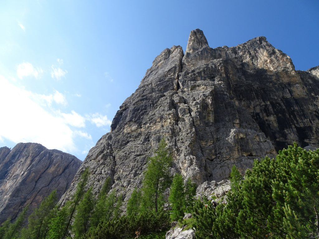 View from the trail towards the second part