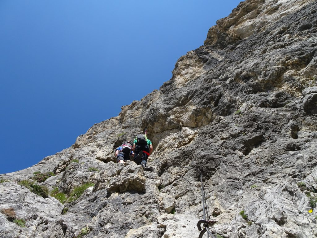 Now it gets steep at the third part of the ferrata (C)