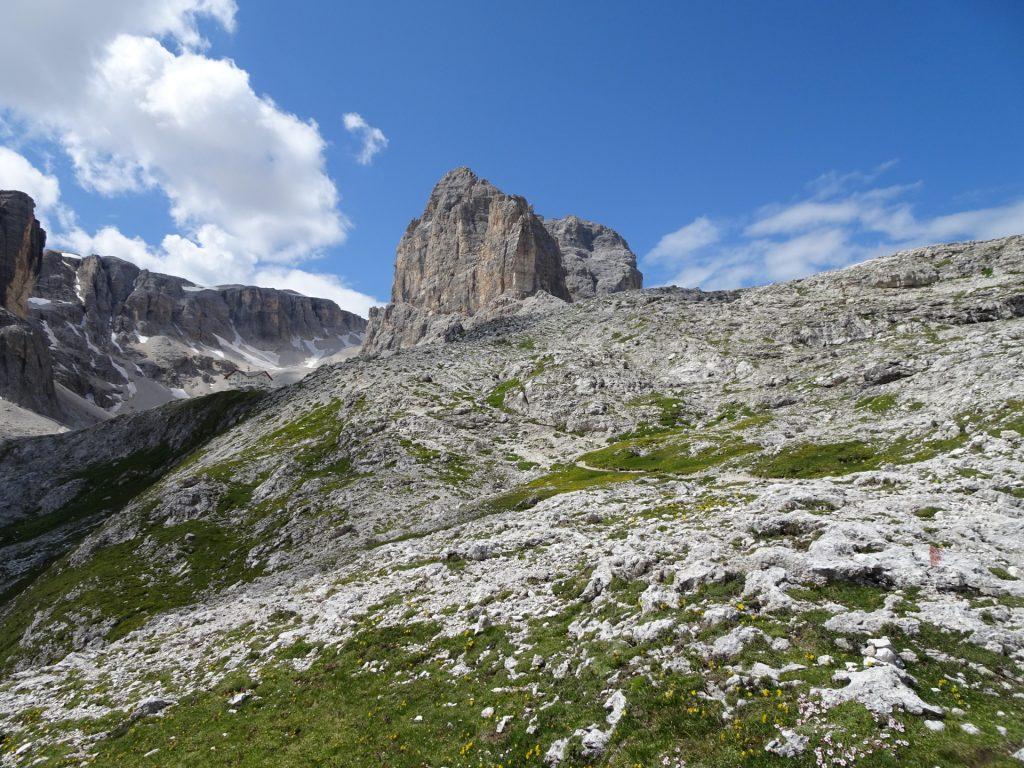 The Pisciadù hut becomes visible!