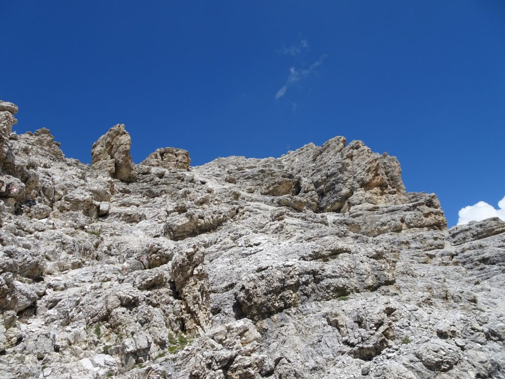 Climbing up to Pisciadù