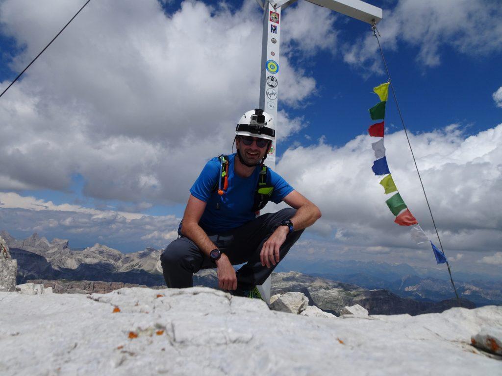 Stefan enjoys the peak