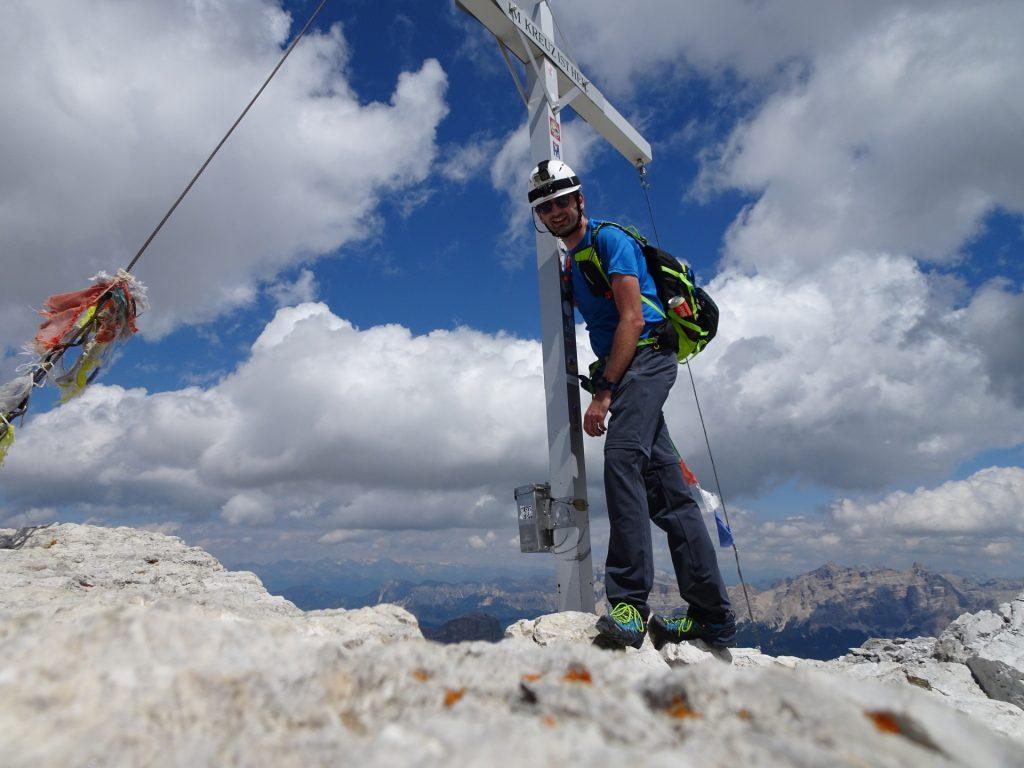 At the peak of Pisciadù