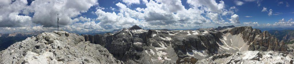 Stunning panorama view from Pisciadù