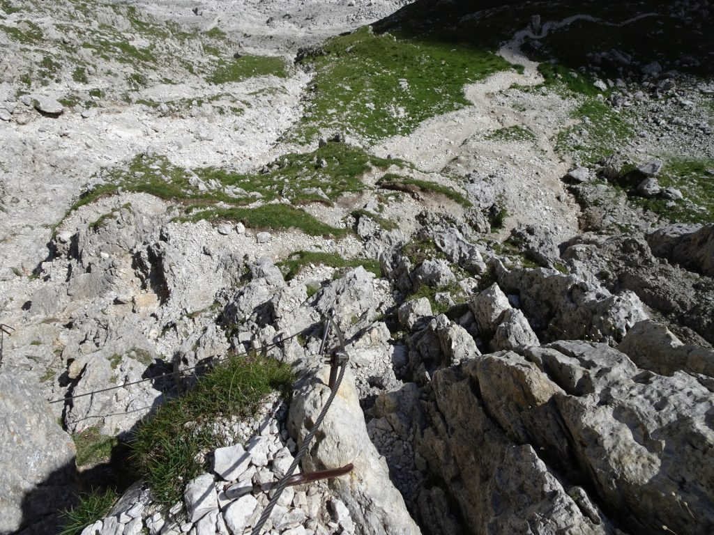 Fairly steep trail downwards