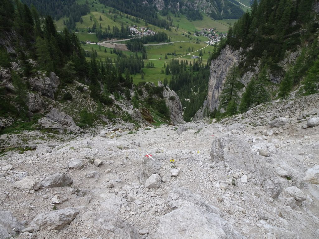 The trail now becomes steep