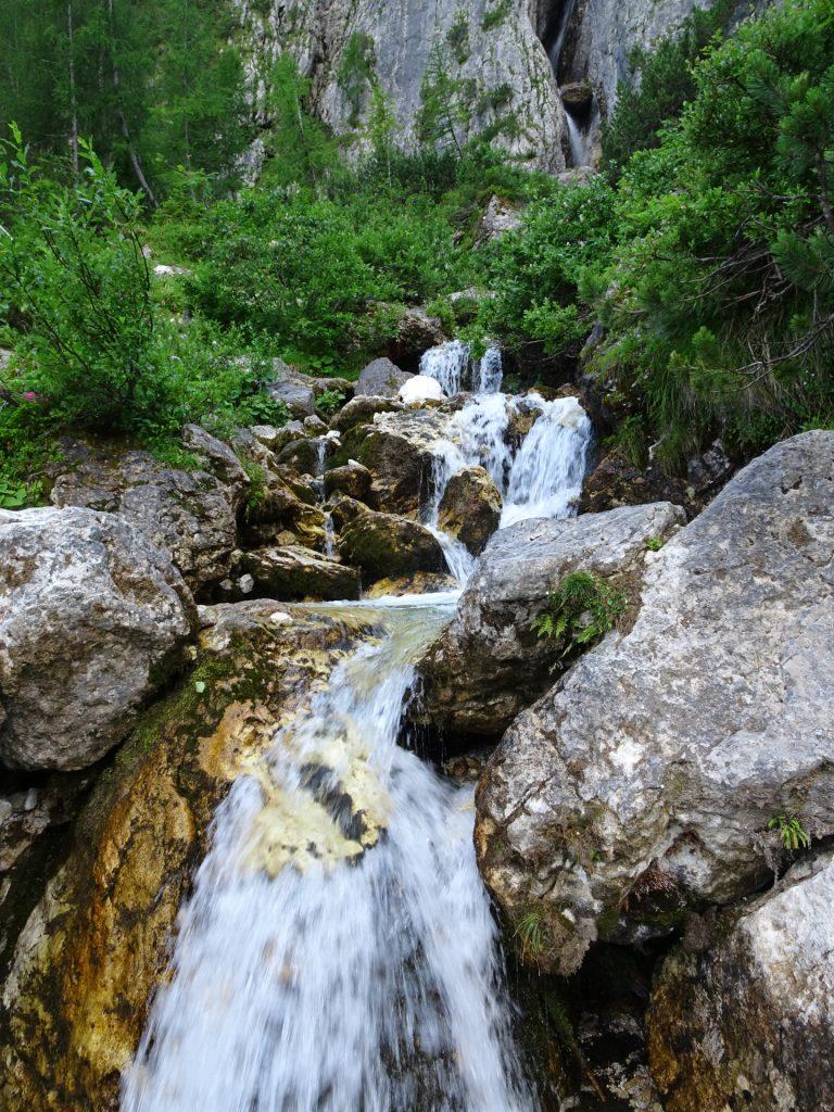 Towards the Pisciadù waterfalls
