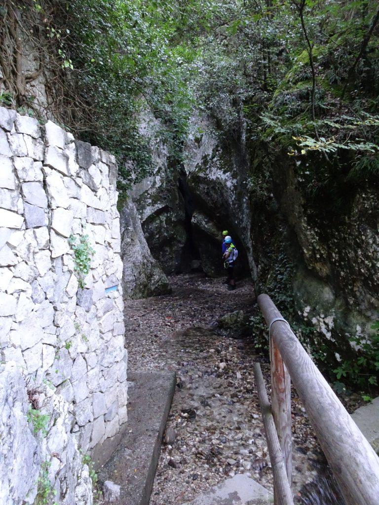 Approaching the start of the via ferrata