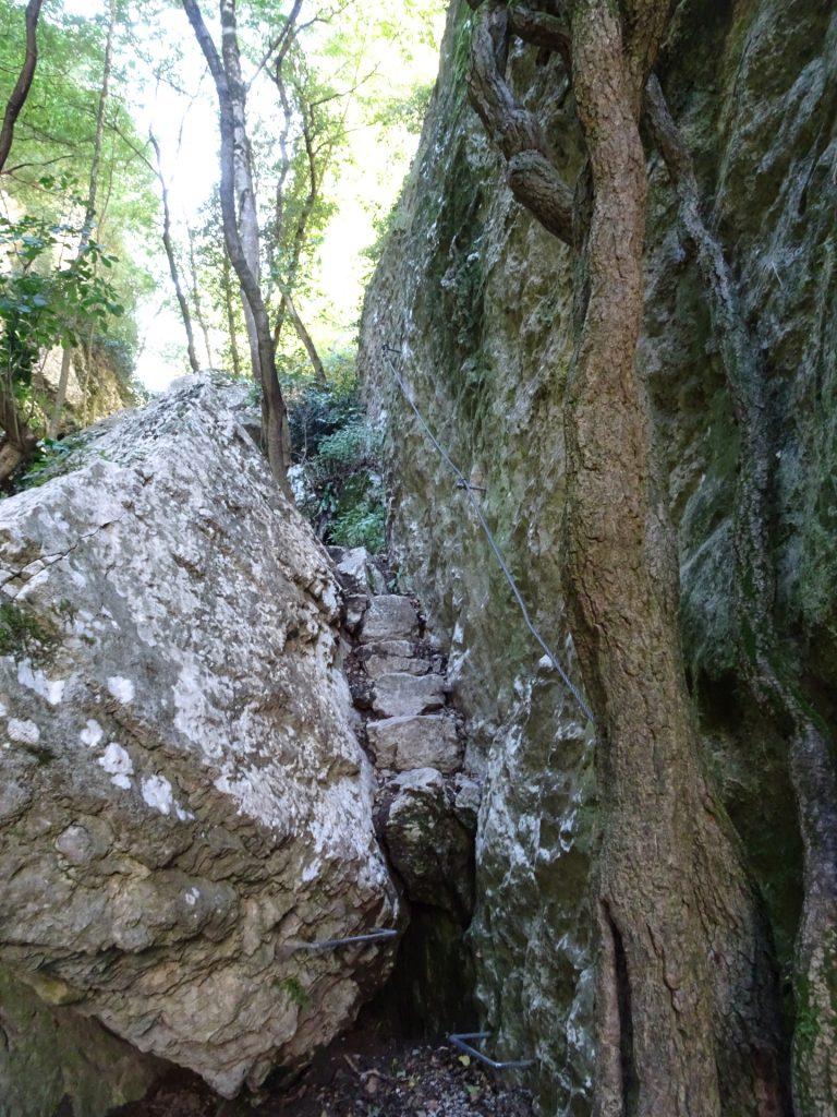 The next climbing part ahead (A)