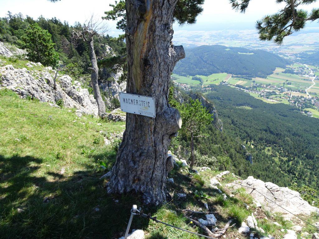 Wagnersteig: Start  of the descent