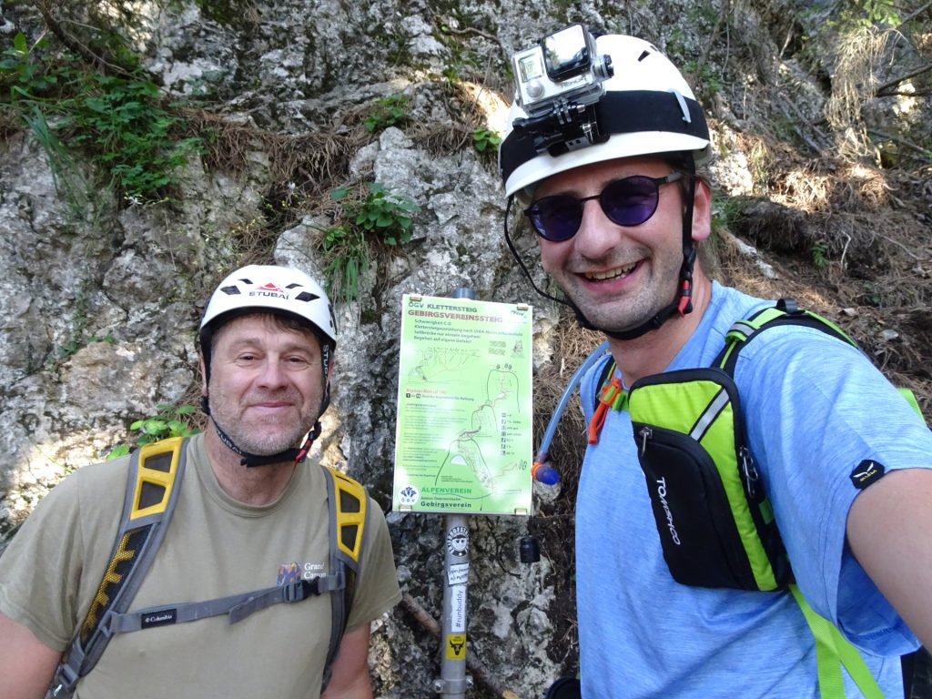 Robert and Stefan at the entrance of GV-Steig