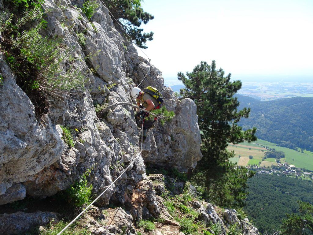 Steirerspur: Robert at the traverse