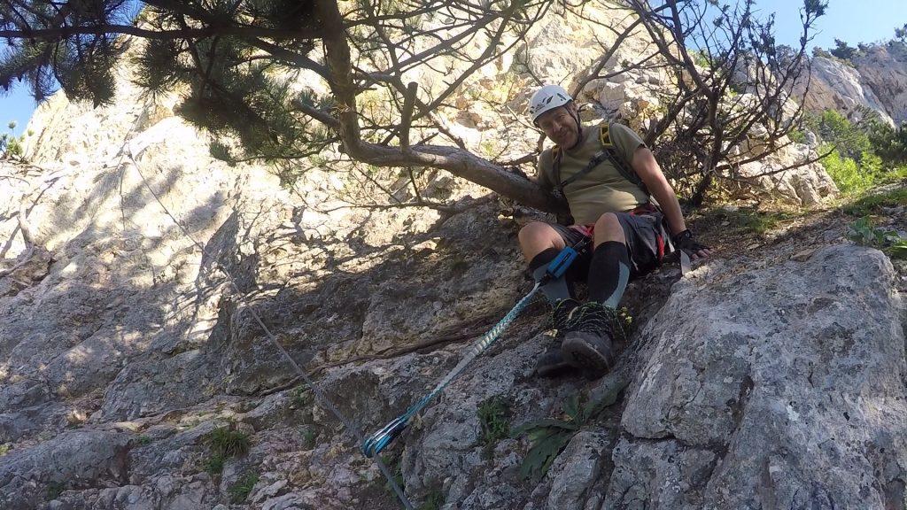 "GV-Steig: A short break in the shadow before entering the steep and demanding ""Weningerwand"" (2)"