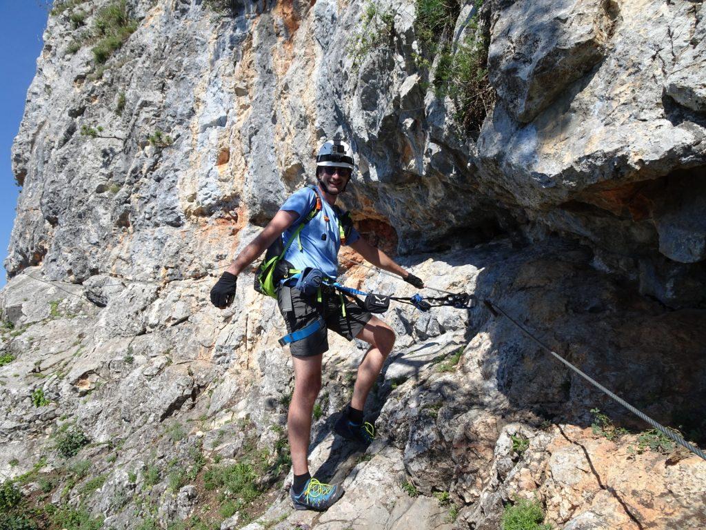 Steirerspur: Stefan enjoys the climbing