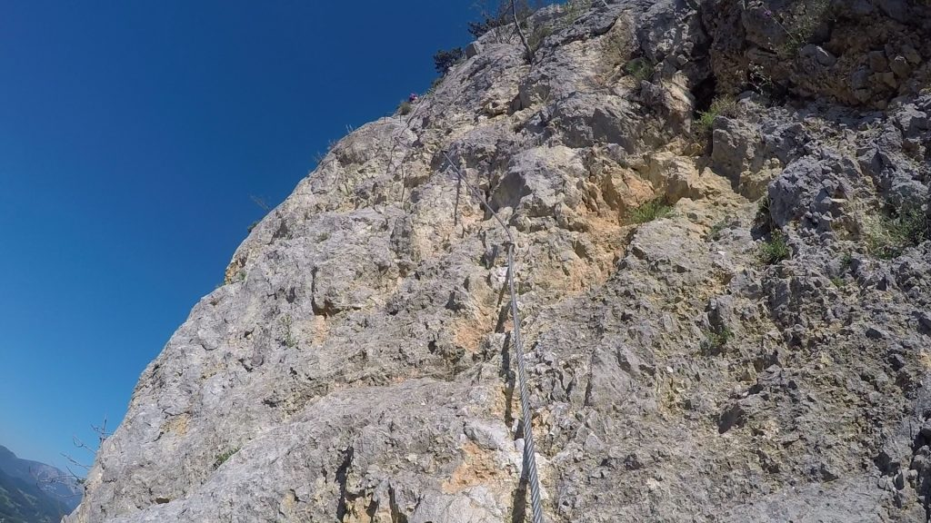 """GV-Steig: The first meters up the """"Weningerwand"""" (B/C)"""