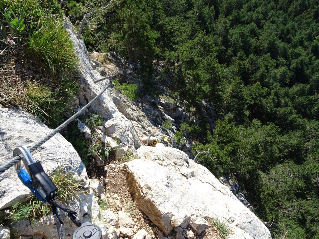 """GV-Steig: Climbing up the """"Weningerwand"""""""