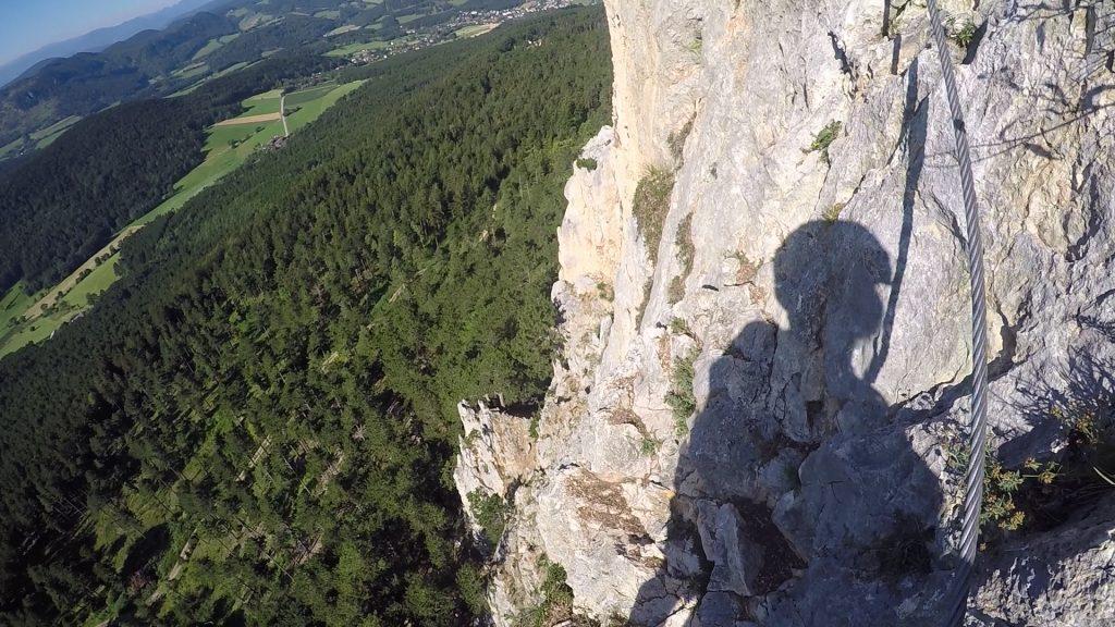 GV-Steig: Exposed traverse