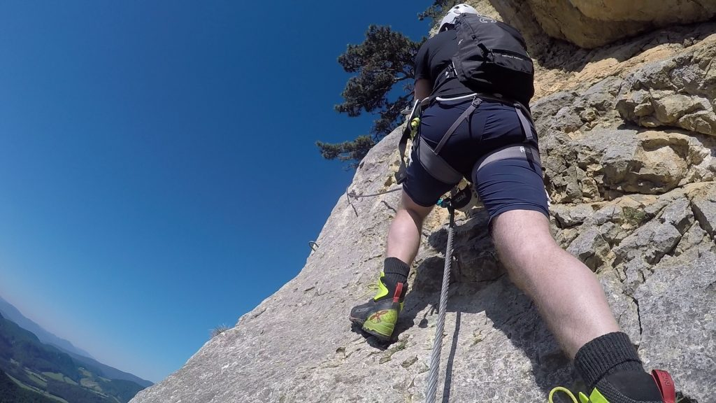 GV-Steig (Crux): the slippery and exposed traverse (between 5 & 6)