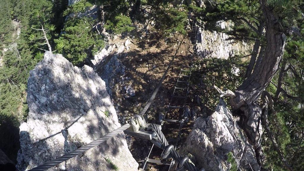 GV-Steig: the rope-way bridge