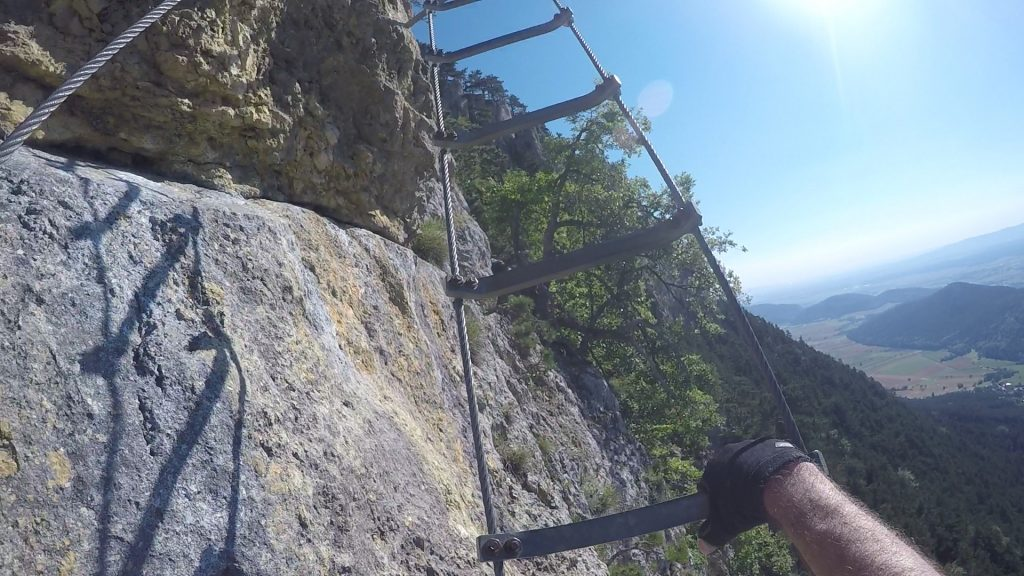 GV-Steig: the hang glider in the middle part