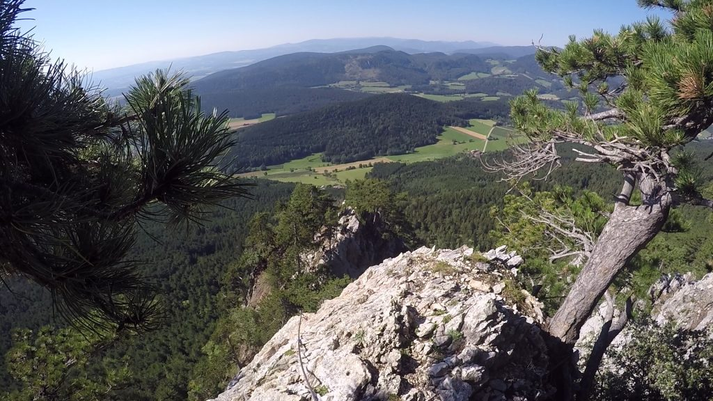 GV-Steig: looking back at the ridge after the hang glider and the wall