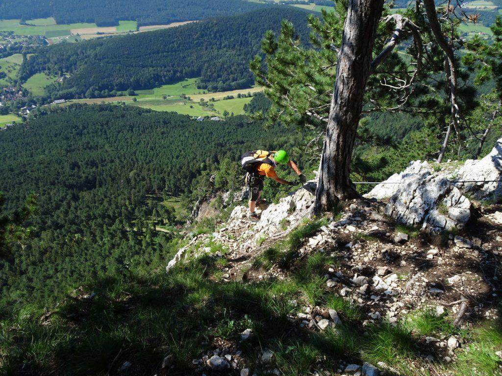 GV-Steig: at the exit of the via ferrata