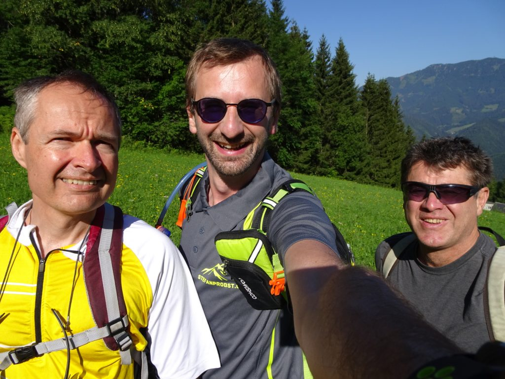 Herbert, Stefan and Robert are looking forward to a great day in the mountains
