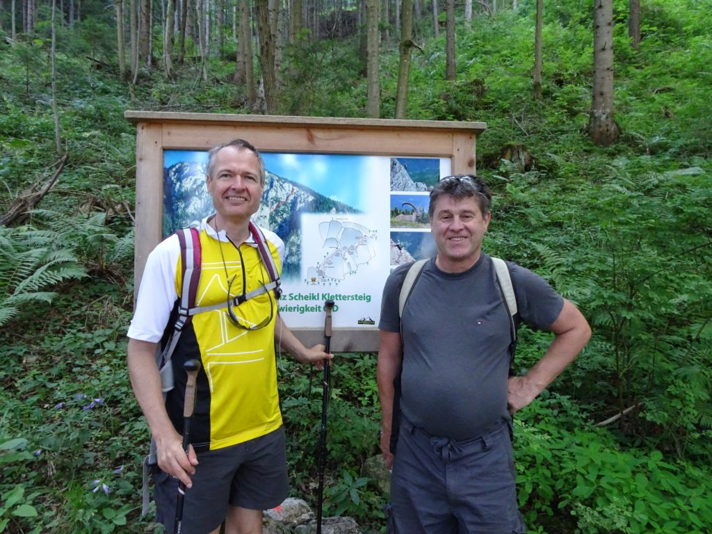 Herbert and Robert in front of the Topo Map