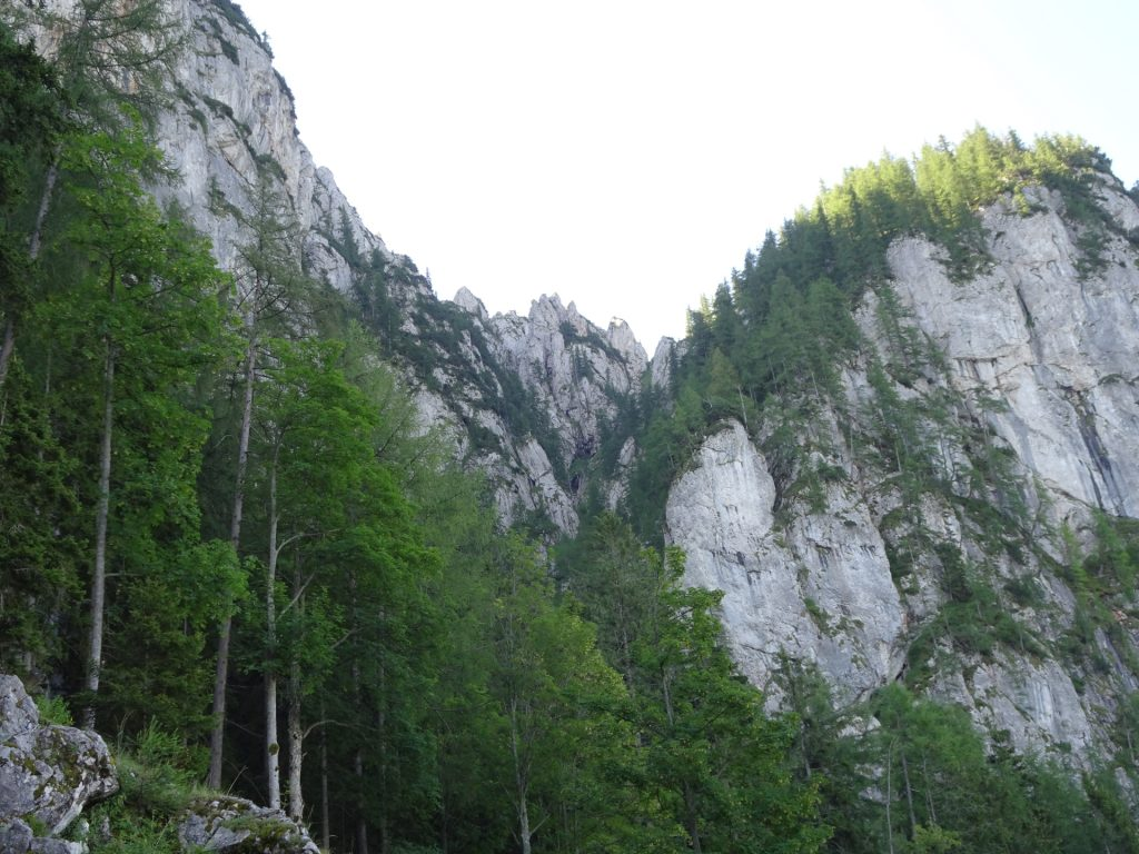 View towards the Via Ferrata