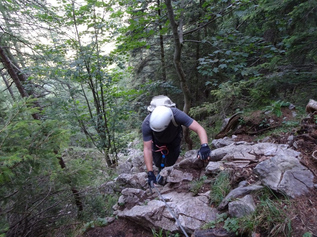 Robert at the first meters of the ferrata