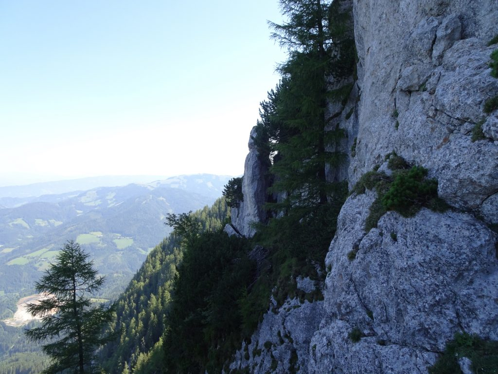 Stunning view from the via ferrata