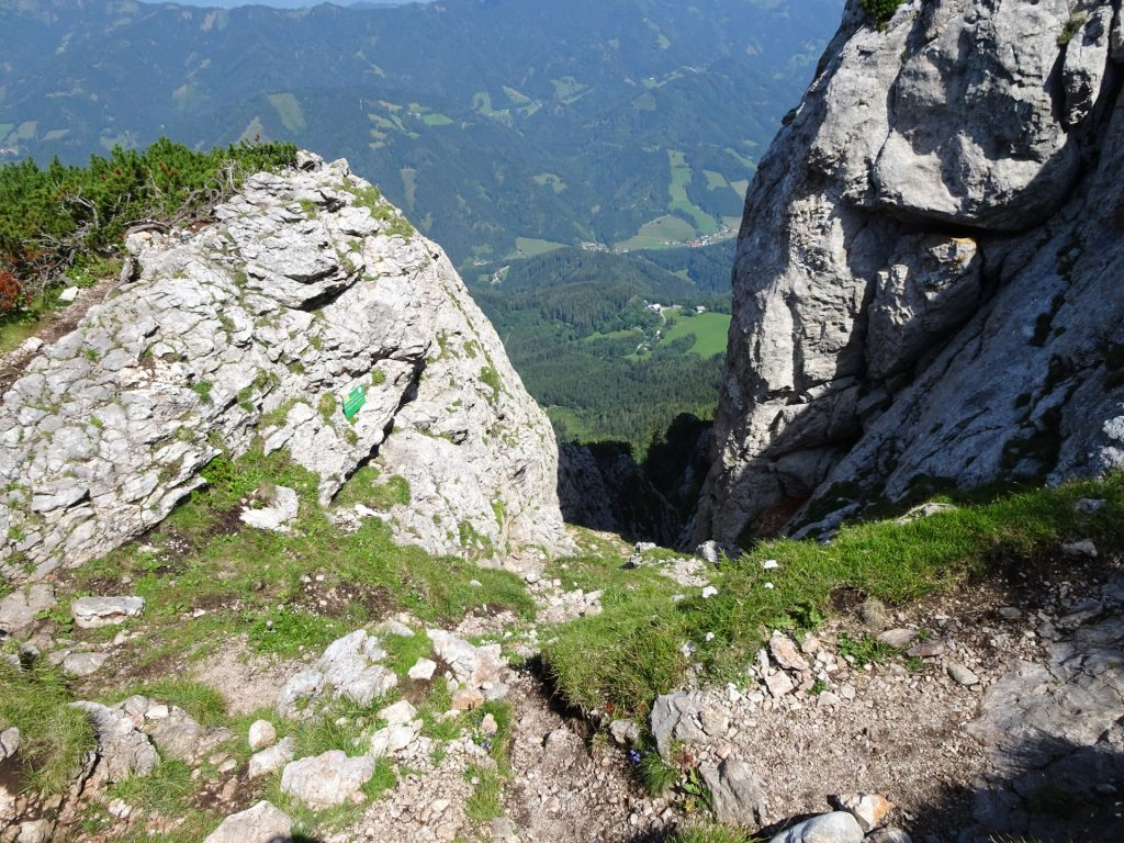 The exit of the via ferrata