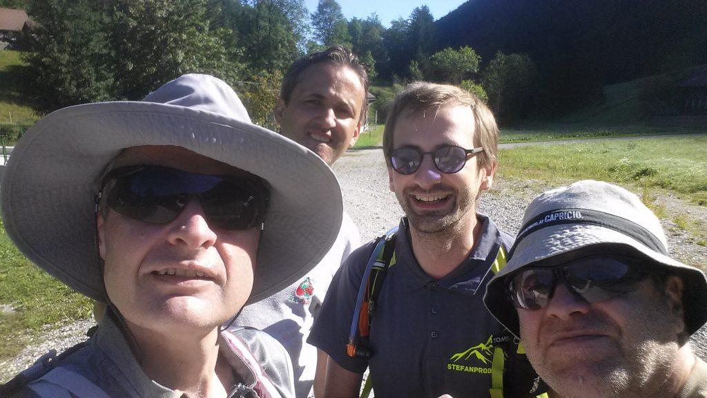 Herbert, Bernhard, Stefan and Robert are ready to start...