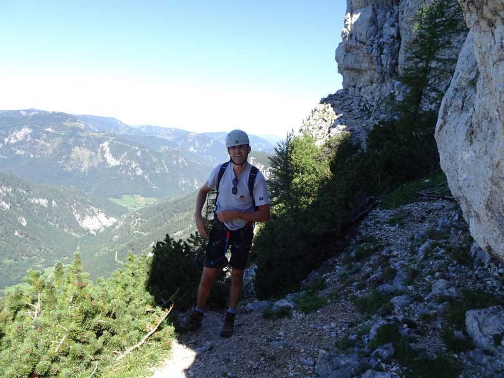 Bernhard enjoys the climb