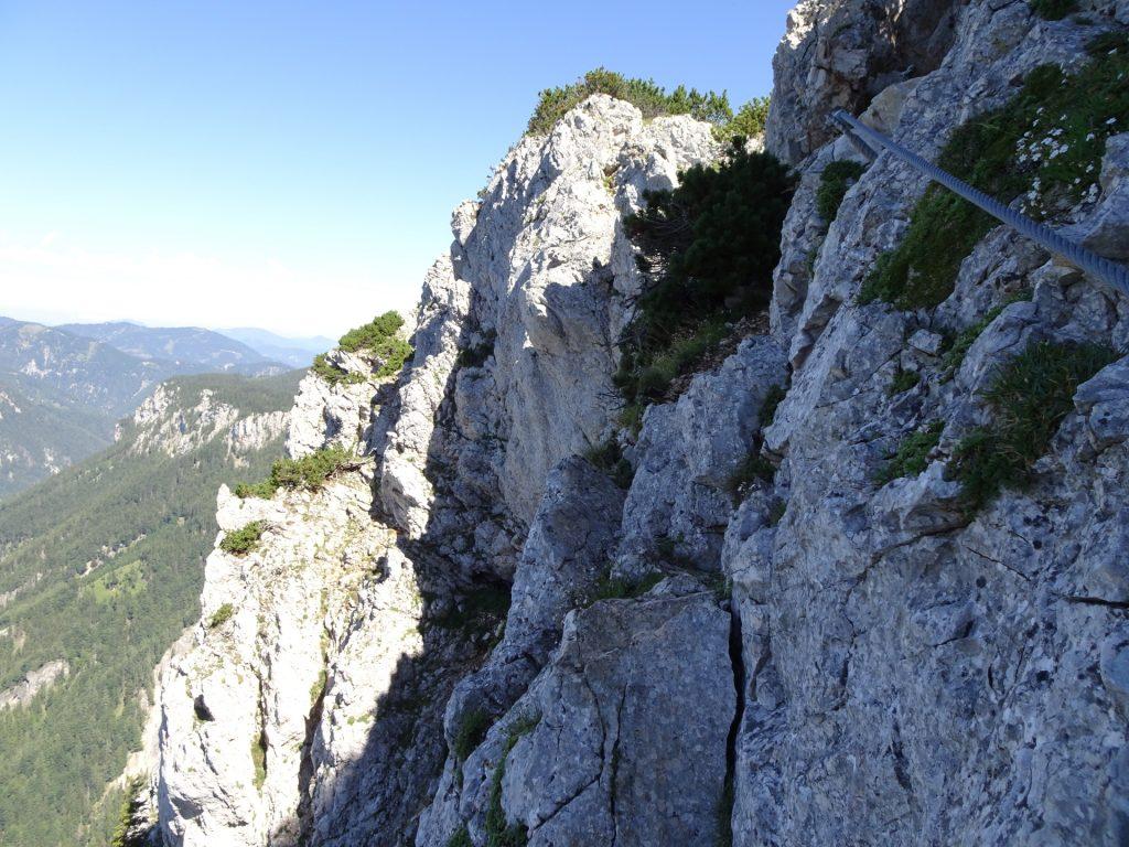Towards the exit of Wildfährte (last climbing)