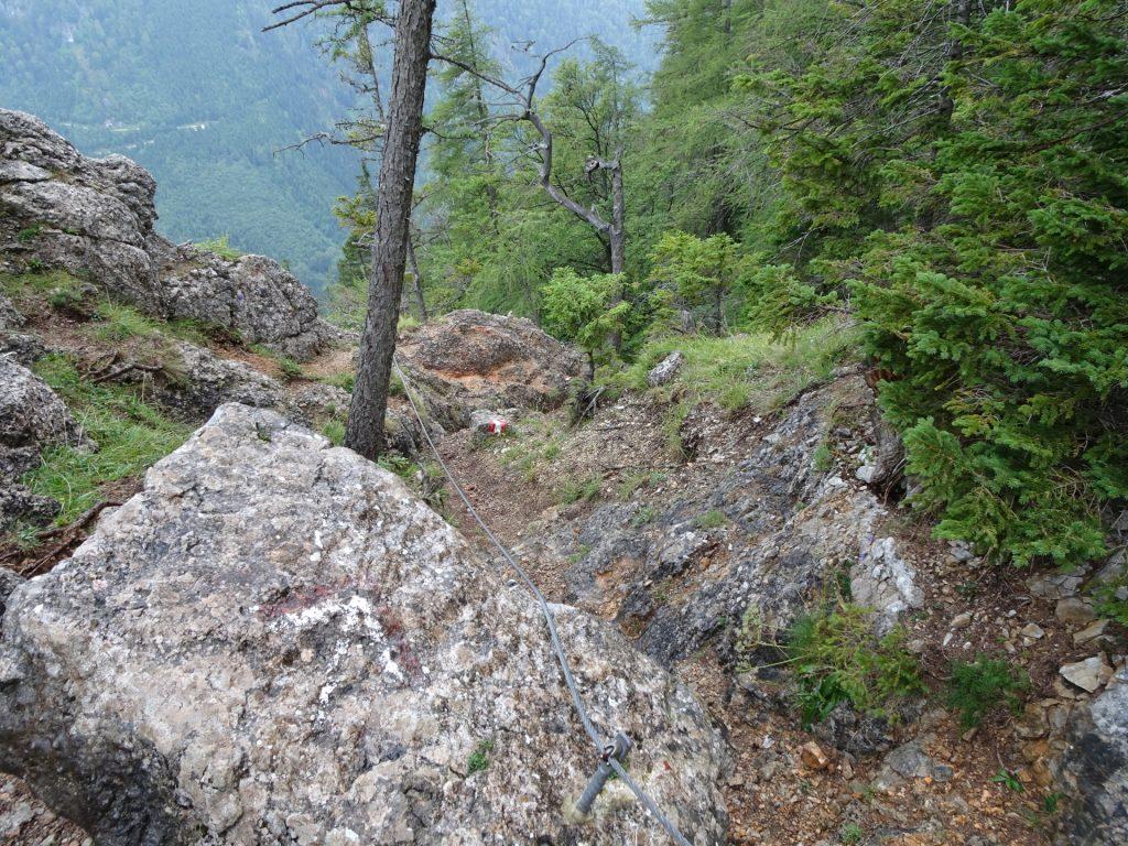 Descending via the Peter Jockel Steig (A)