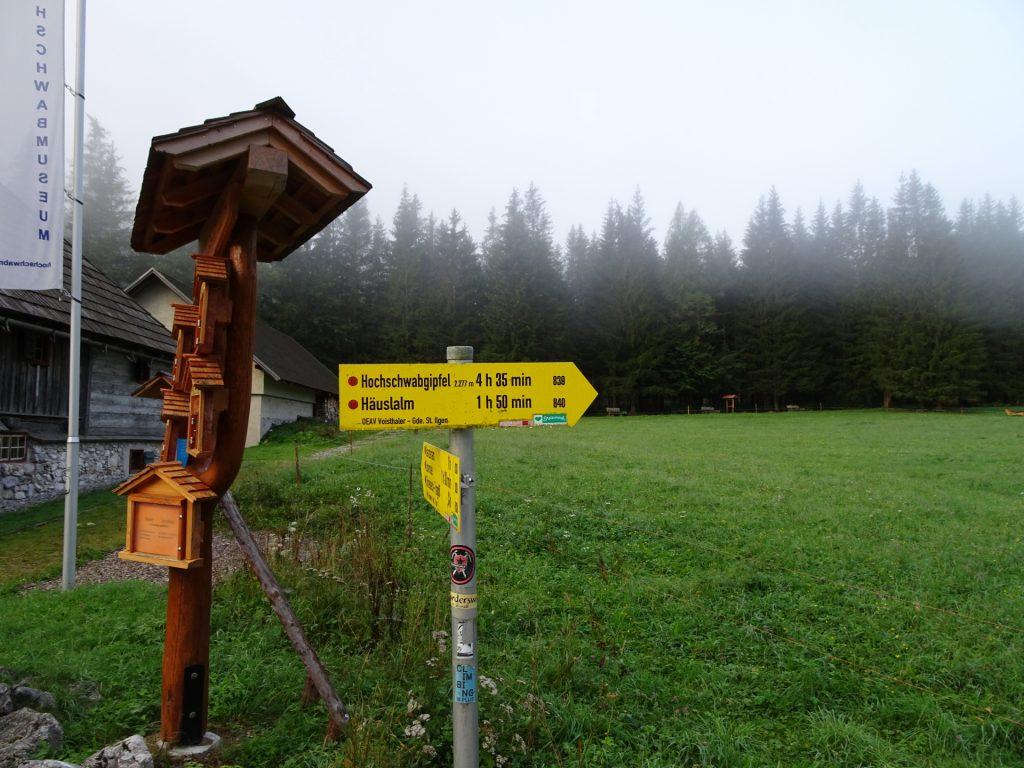 "Passing by the ""Gasthof Bodenbauer"" towards ""Hochschwabgipfel"""