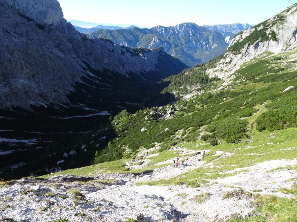 View back into the valley