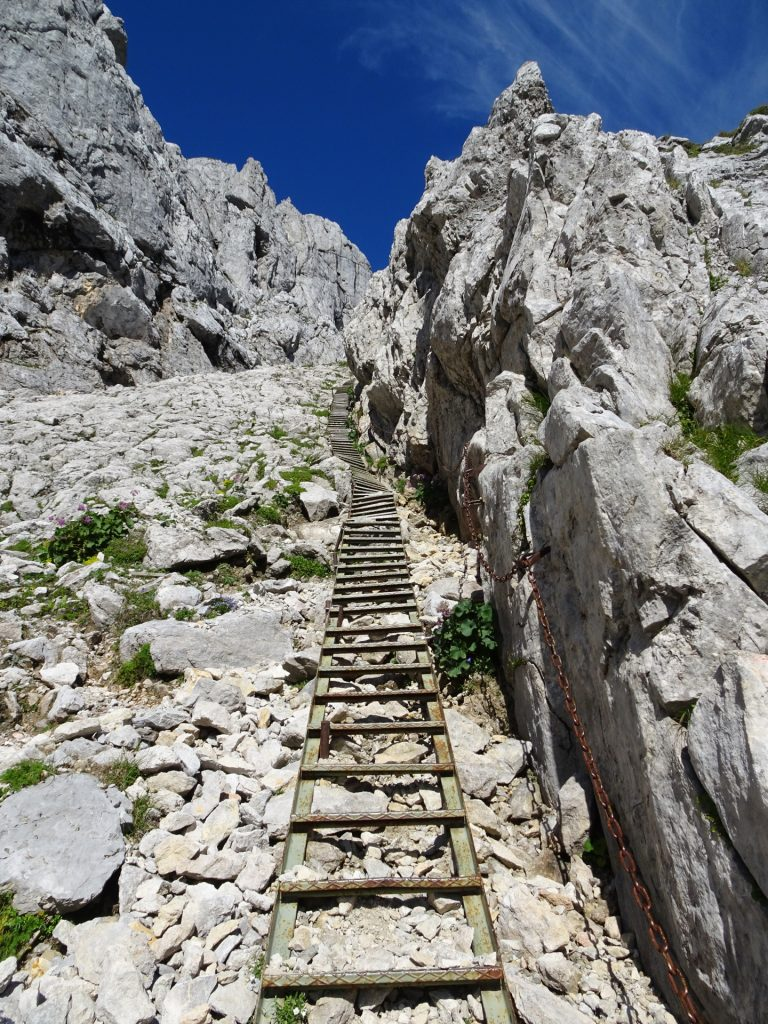 """The very long ladder at the """"G'hackte"""""""