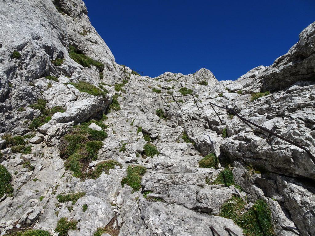 "Climbing up the ""G'hackte"" via ferrata (A/B)"