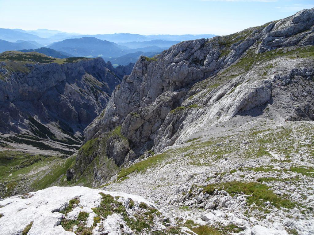 View back to the via ferrata