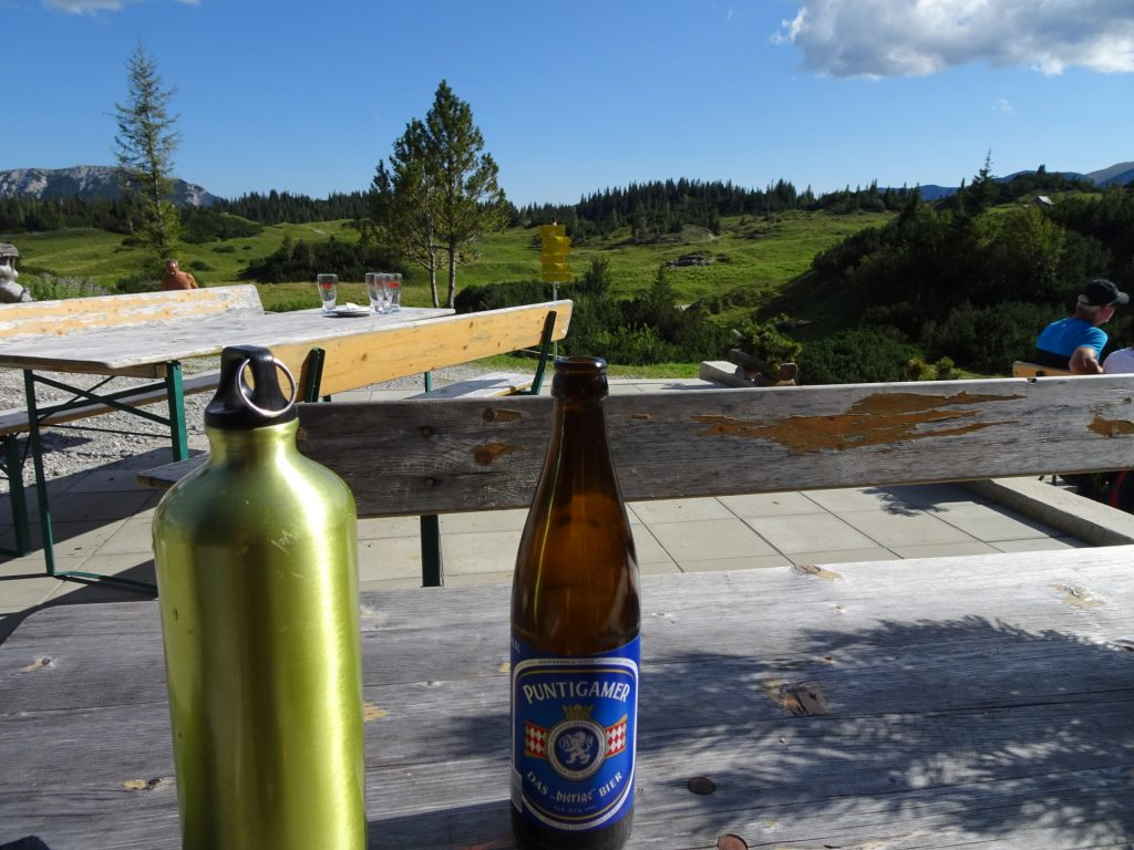 """Well deserved break at the """"Sonnschienhütte"""""""