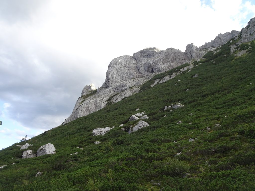 """View from the trail back to """"Bodenbauer"""""""