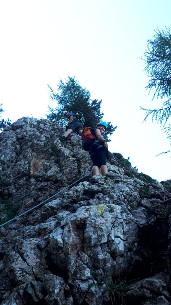 Stefan and Marion climbing