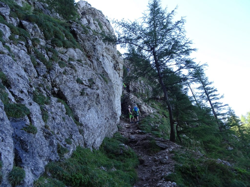 Towards the 2nd part and the crux (after a short descent)