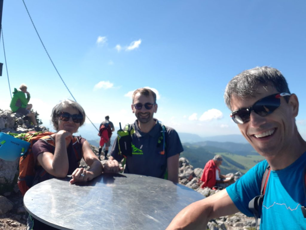 Marion, Stefan and Thomas at the summit of Hochlantsch