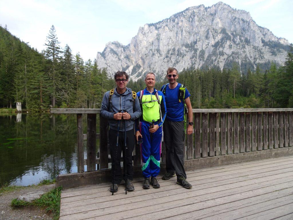 """Robert, Herbert und Stefan in front of the """"Kreuzteich"""""""