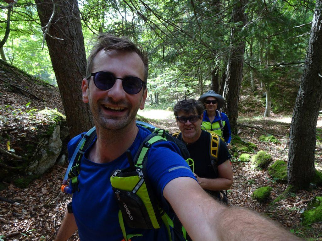 Stefan, Robert and Herbert enjoying the hike