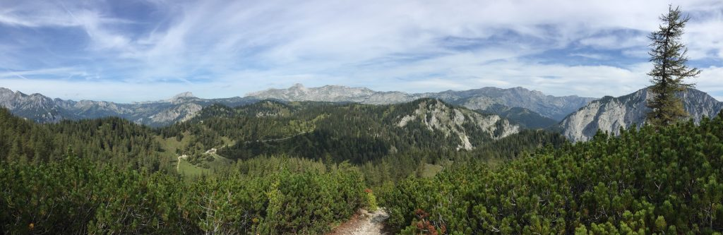 """Panoramic view towards """"Sonnschienalm"""""""