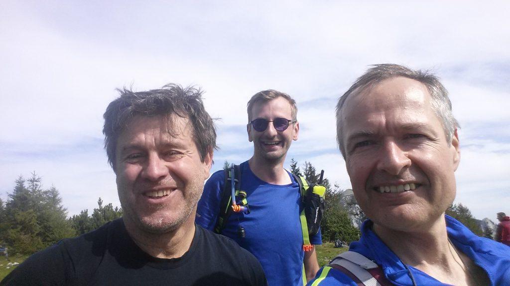 Robert, Stefan and Herbert enjoy the summit